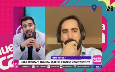 """Entrevista a Pablo Contreras sobre """"Sin Vetos"""" en Canal 9"""
